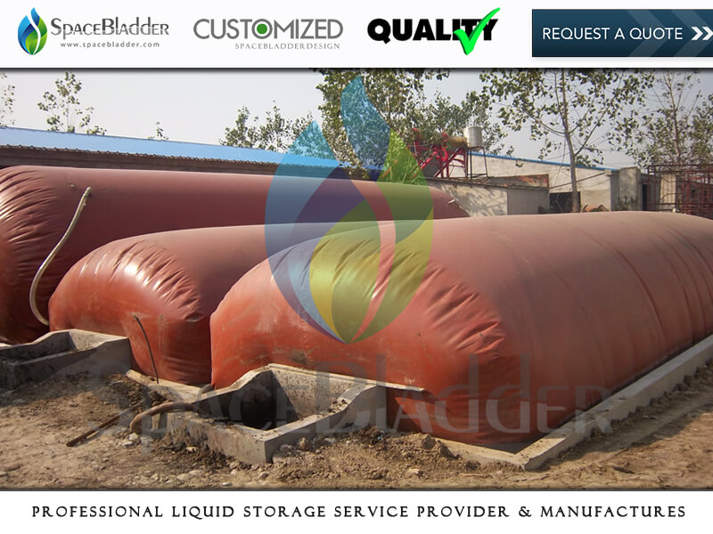 SpaceBladder 1m3-100m3 Moveable PVC Red Mud Biogas Storage Bag For Gas Storage and Transportation