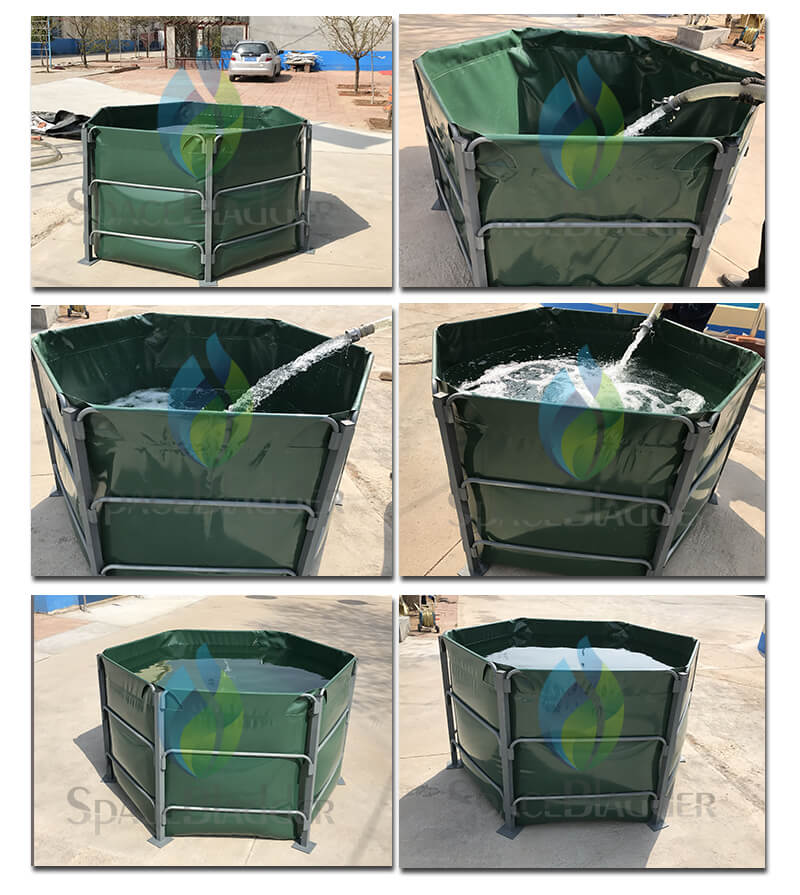 1000L Hexagon Frame Support Water Tank For Water Treatment